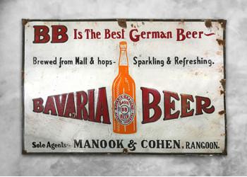 Bavaria Beer Vintage Sign
