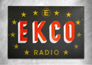 Ekco Radio Vintage Sign